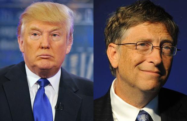 bill gates and donald trump leading style comparison