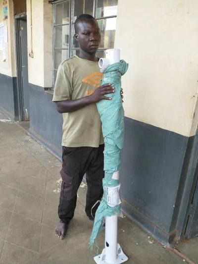 Security Guard Arrested For Vandalizing Newly Installed
