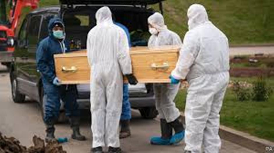 Burial of COVID-19 victim in Namisindwa district