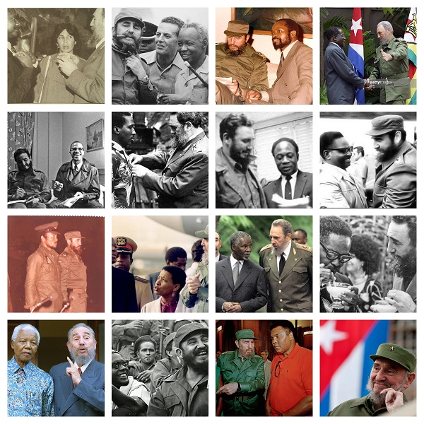Commandante Fidel Castro Collage. By Alex Masereka Joel